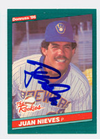 Juan Nieves AUTOGRAPH 1986 Donruss #12 ROOKIES Brewers 
