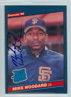 Mike Woodard AUTOGRAPH 1986 Donruss #46 Giants ROOKIE 