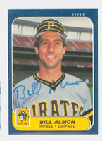Billy Almon AUTOGRAPH 1986 Fleer Pirates 