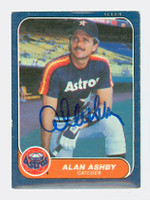 Alan Ashby AUTOGRAPH 1986 Fleer Astros 