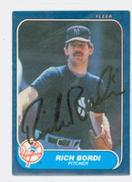 Rich Bordi AUTOGRAPH 1986 Fleer Yankees 