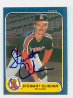 Stu Cliburn AUTOGRAPH 1986 Fleer Angels 