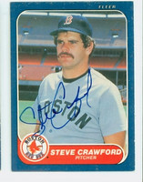 Steve Crawford AUTOGRAPH 1986 Fleer Red Sox 