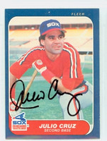 Julio Cruz AUTOGRAPH 1986 Fleer White Sox 