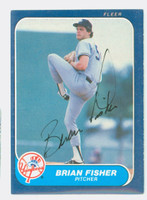 Brian Fisher AUTOGRAPH 1986 Fleer Yankees 