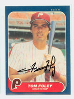 Tom Foley AUTOGRAPH 1986 Fleer Phillies 