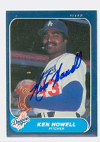 Ken Howell AUTOGRAPH 1986 Fleer Dodgers 