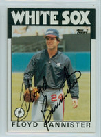 Floyd Bannister AUTOGRAPH 1986 Topps #64 White Sox 