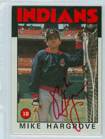 Mike Hargrove AUTOGRAPH 1986 Topps #136 Indians 