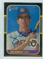 Jim Adduci AUTOGRAPH 1987 Donruss Brewers 