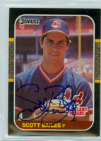 Scott Bailes AUTOGRAPH 1987 Donruss Indians 