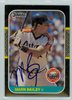 Mark Bailey AUTOGRAPH 1987 Donruss Astros 