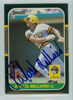 Rafael Belliard AUTOGRAPH 1987 Donruss Pirates 
