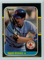 Wade Boggs AUTOGRAPH 1987 Donruss Red Sox 