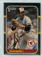 Rich Bordi AUTOGRAPH 1987 Donruss Orioles 