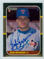 Bob Brower AUTOGRAPH 1987 Donruss Rangers 