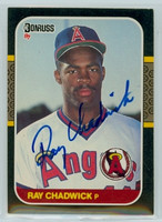 Ray Chadwick AUTOGRAPH 1987 Donruss Angels 