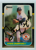 Steve Crawford AUTOGRAPH 1987 Donruss Red Sox 