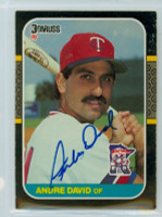 Andre David AUTOGRAPH 1987 Donruss Twins 