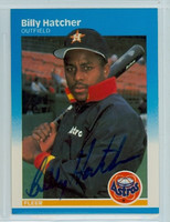 Billy Hatcher AUTOGRAPH 1987 Fleer Astros#59 