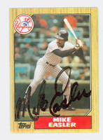Mike Easler AUTOGRAPH 1987 Topps Yankees 
