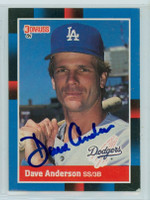 Dave Anderson AUTOGRAPH 1988 Donruss Dodgers 
