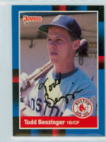 Todd Benzinger AUTOGRAPH 1988 Donruss Red Sox 