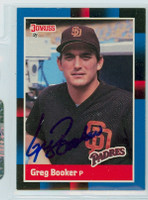 Greg Booker AUTOGRAPH 1988 Donruss Padres 