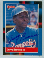 Jerry Browne AUTOGRAPH 1988 Donruss Rangers 