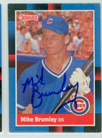 Mike Brumley AUTOGRAPH 1988 Donruss Cubs 