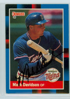 Mark Davidson AUTOGRAPH 1988 Donruss Twins 