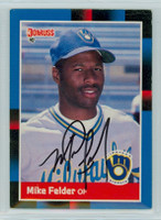Mike Felder AUTOGRAPH 1988 Donruss Brewers 