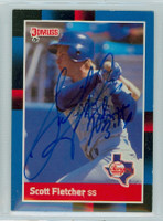 Scott Fletcher AUTOGRAPH 1988 Donruss Rangers 