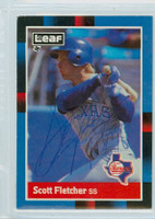 Scott Fletcher AUTOGRAPH 1988 Donruss Rangers LEAF 