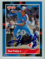 Tom Foley AUTOGRAPH 1988 Donruss Expos 