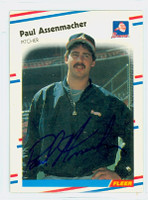 Paul Assenmacher AUTOGRAPH 1988 Fleer Braves 
