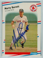 Marty Barrett AUTOGRAPH 1988 Fleer Red Sox 