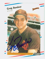 Greg Booker AUTOGRAPH 1988 Fleer Padres 