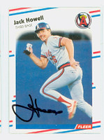 Jack Howell AUTOGRAPH 1988 Fleer Angels 