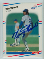 Ken Howell AUTOGRAPH 1988 Fleer Dodgers 