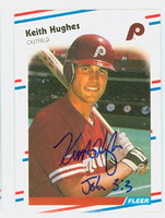 Keith Hughes AUTOGRAPH 1988 Fleer Phillies 