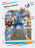 Wallace Johnson AUTOGRAPH 1988 Fleer Expos 