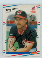 Doug Jones AUTOGRAPH 1988 Fleer Indians 