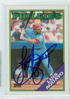 Luis Aguayo AUTOGRAPH 1988 Topps Phillies 