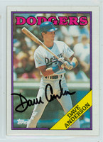 Dave Anderson AUTOGRAPH 1988 Topps Dodgers 