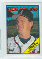 Bruce Benedict AUTOGRAPH 1988 Topps Braves 
