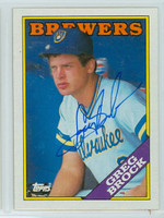Greg Brock AUTOGRAPH 1988 Topps Brewers 