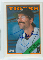 Tom Brookens AUTOGRAPH 1988 Topps Tigers 