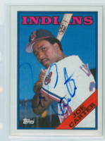 Joe Carter AUTOGRAPH 1988 Topps Indians 