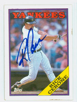 Rick Cerone AUTOGRAPH 1988 Topps Yankees 